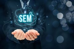 SEM search engine marketing Royalty Free Stock Images