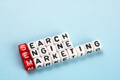 SEM Searh Engine Marketing Arkivbilder