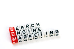 SEM Searh Engine Marketing. SEM  Searh Engine Marketing definition  acronym on white Stock Image