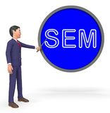 Sem Sign Means Sales Promotion 3d tolkning stock illustrationer