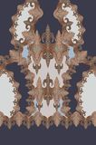 Geometric colors blue print design. Cowboy texture woman fashion industry printing royalty free stock photo