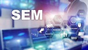 SEM wyszukiwarki optymalizacji rankingu ruchu drogowego Marketingowej strony internetowej technologii komunikacji Internetowy Biz ilustracja wektor