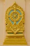 Sema寺庙的机场标志板,佛教教会的标志 库存图片