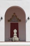 Sema ein Umgrenzungsmarker nahe einer buddhistischen Kirche Lizenzfreie Stockfotografie