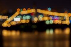 Semafori della strada di città di notte Immagini Stock