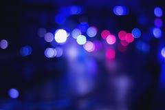 Semafori della via di Bokeh Fotografia Stock Libera da Diritti