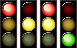 Semafori di vettore Immagine Stock Libera da Diritti