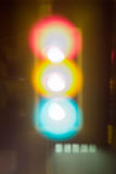 Semafori, neon Immagini Stock