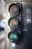 Semafori per i ciclisti Immagine Stock