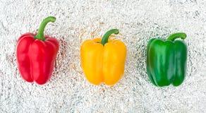 Semaforo dei peperoni colorati Fotografie Stock