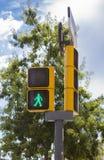 Semaforo dell'uomo verde Fotografia Stock Libera da Diritti