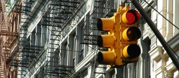 Semaforo di Manhattan Fotografia Stock