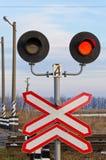 Semaforo ferroviario Fotografie Stock