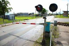 Semaforo ferroviario Immagine Stock