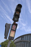 Semaforo pedonale Fotografia Stock Libera da Diritti