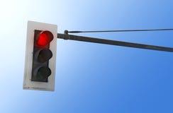 Semaforo su colore rosso Fotografie Stock Libere da Diritti