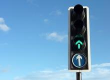 Semaforo verde Fotografia Stock Libera da Diritti