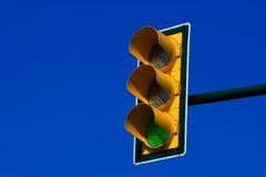 Semaforo verde Fotografia Stock