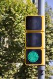 Semaforo verde Immagini Stock