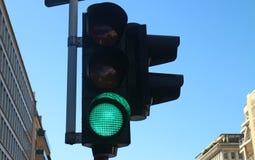 Semaforo verde Fotografie Stock Libere da Diritti