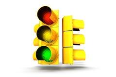 Semaforo verde ambrato rosso Immagini Stock