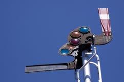 semaforowy linia kolejowa sygnał Zdjęcie Royalty Free