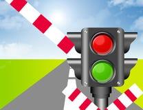 semaforu staci pociąg Obraz Stock