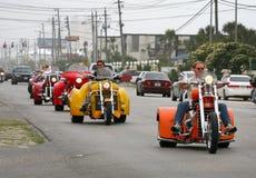 Semaine de 2010 vélos - plage de Panama City Images stock