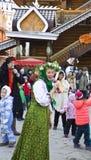 Semaine de crêpe de carnaval de ressort en Russie Photos libres de droits