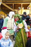 Semaine de crêpe de carnaval de ressort en Russie Photos stock