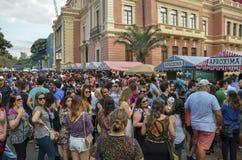SEMAINE de GASTRONOMIE pendant Liberty Square à Belo Horizonte, Brésil images stock