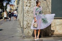 Semaine de mode de Milan Photographie stock libre de droits