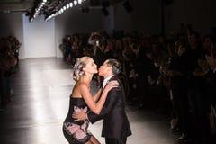 Semaine de mode de New York d'exposition de piste de Zang Toi SS19 photos libres de droits