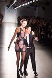 Semaine de mode de New York d'exposition de piste de Zang Toi SS19 images stock
