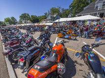 Semaine de moto de Laconia Photos libres de droits