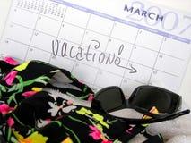 Semaine de vacances Image stock