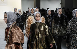 Semaine FW 2017 de mode de New York - collection d'Anniesa Hasibuan Photographie stock libre de droits