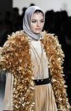 Semaine FW 2017 de mode de New York - collection d'Anniesa Hasibuan Photos libres de droits