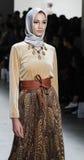 Semaine FW 2017 de mode de New York - collection d'Anniesa Hasibuan Images libres de droits
