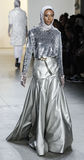 Semaine FW 2017 de mode de New York - collection d'Anniesa Hasibuan Image libre de droits