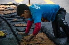 Semaine sainte à Lima - au Pérou 2018 images stock