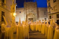 Semaine sainte à Valladolid, l'Espagne Image libre de droits
