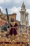 Semaine sainte en Séville, fraternité de paix Photos stock