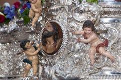 Semaine sainte en Séville, l'Espagne images stock