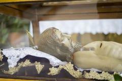 Semaine sainte menteuse de Jésus-Christ en Espagne, images des vierges et du Re images libres de droits