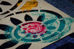 Semana圣诞老人地毯钢板蜡纸II 免版税库存图片