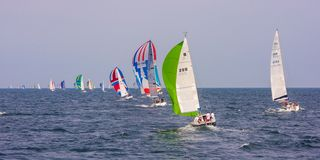 Semana colorida de Kieler do barco de navigação imagem de stock royalty free