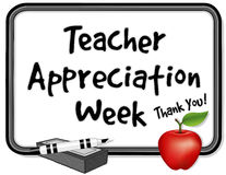 Semana da apreciação do professor, Whiteboard Fotografia de Stock Royalty Free