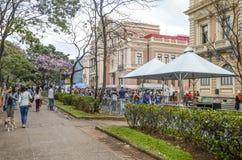 SEMANA da GASTRONOMIA em Liberty Square em Belo Horizonte, Brasil Imagens de Stock