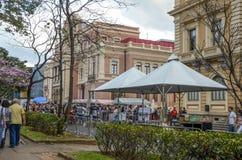 SEMANA da GASTRONOMIA em Liberty Square em Belo Horizonte, Brasil Fotografia de Stock Royalty Free
